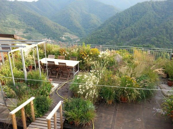 vista panoramica della terrazza